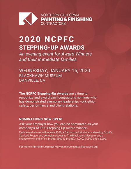 NCPFC 2020 Stepping up Awards Poster