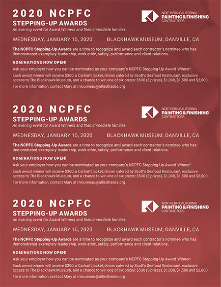NCPFC 2020 Stepping up awards - Paycheck stuffers